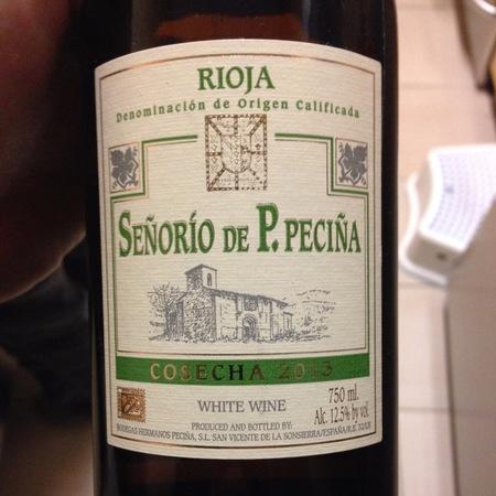 Bodegas Hermanos Peciña Señorio de P. Peciña Cosecha Rioja Viura 2010