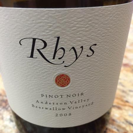 Rhys Vineyards Bearwallow Vineyard Pinot Noir 2008