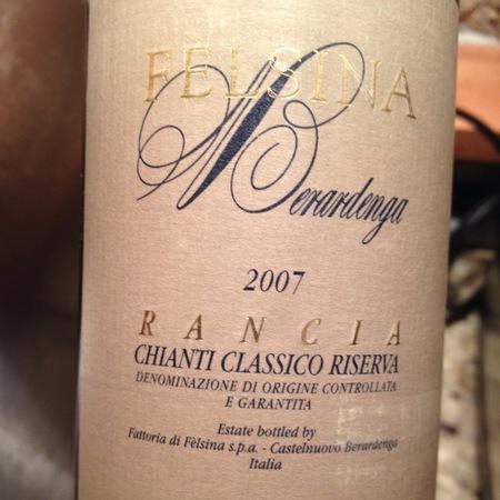 Fattoria di Fèlsina Berardenga Riserva Rancia Chianti Classico Sangiovese Blend 2007 (1500ml)
