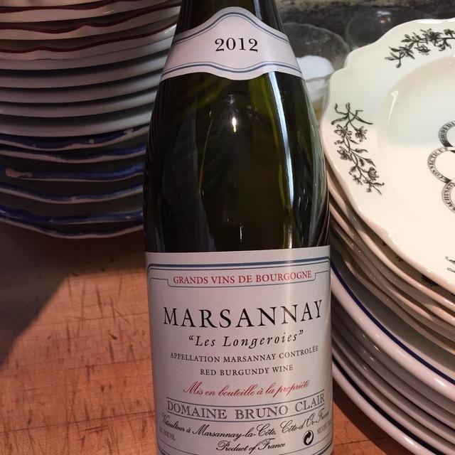 """""""Les Longeroies"""" Marsannay Pinot Noir 2012"""