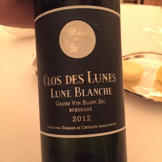 Clos des Lunes Lune Blanche Bordeaux Blanc Sec White Bordeaux Blend 2014