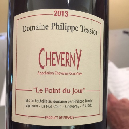 Domaine Philippe Tessier Le Point du Jour Cheverny Pinot Noir Gamay 2015