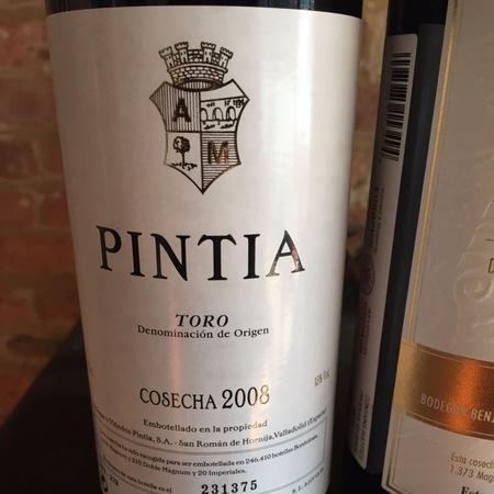 Bodegas y Viñedos Vega Sicilia Pintia Toro Tempranillo 2008