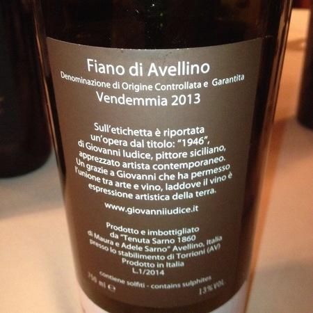 Tenuta Sarno 1860 Di Maura E Adele Sarno Fiano di Avellino 2013