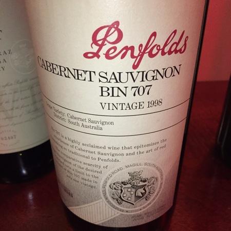 Penfolds Bin 707 Cabernet Sauvignon 1998