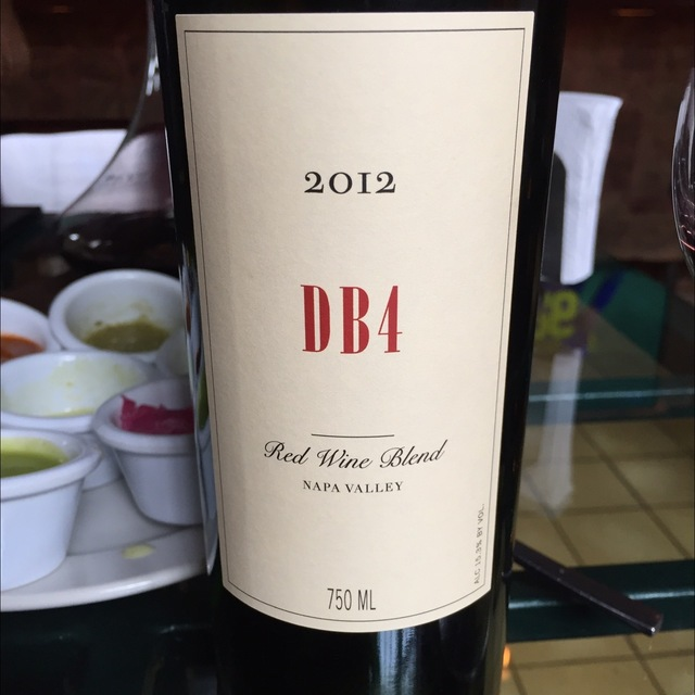 DB4 Napa Valley Red Blend 2012