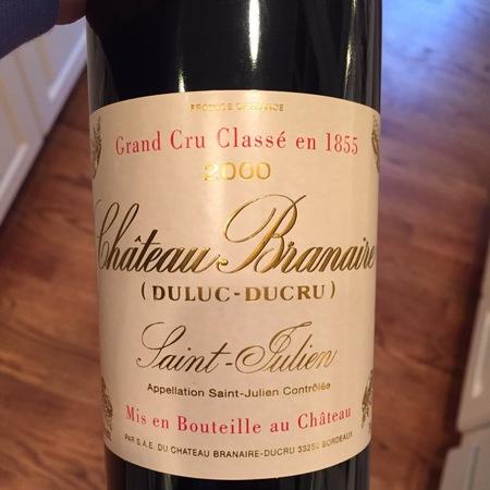 Château Branaire (Duluc-Ducru) St. Julien- Beychevelle Red Bordeaux Blend 2000