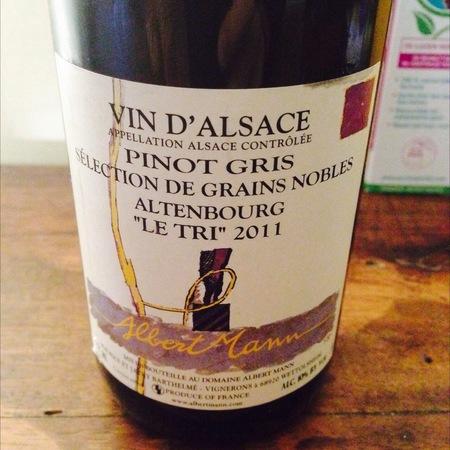 """Albert Mann Altenbourg Sélection de Grains Nobles """"Le Tri"""" Vin d'Alsace Pinot Gris 2000 (375ml)"""