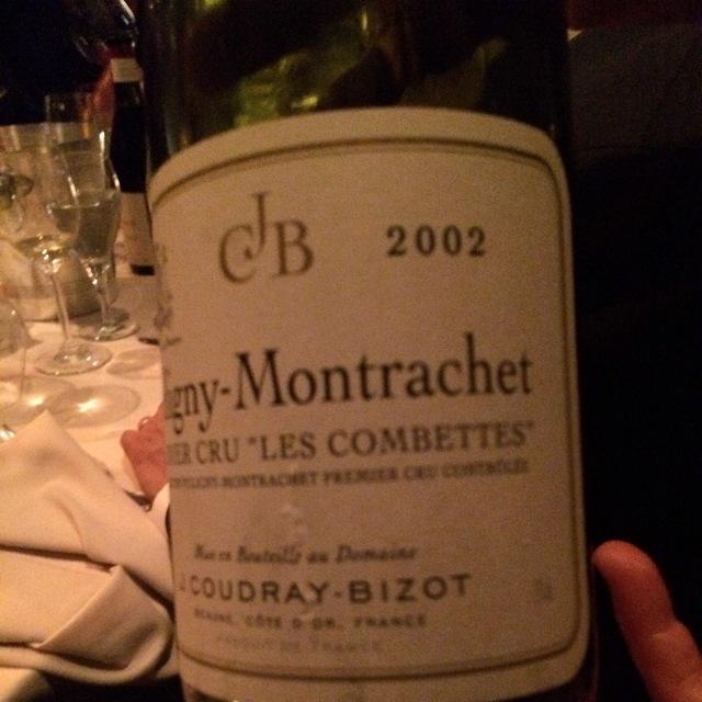 Les Combettes Puligny-Montrachet 1er Cru Chardonnay 2002