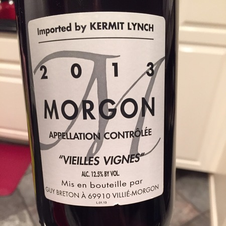 Guy Breton Vieilles Vignes Morgon Gamay 2013