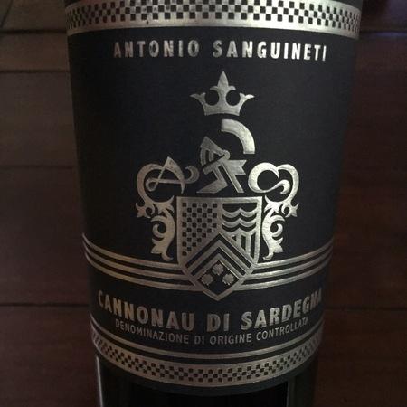 Antonio Sanguineti Cannonau di Sardegna 2014