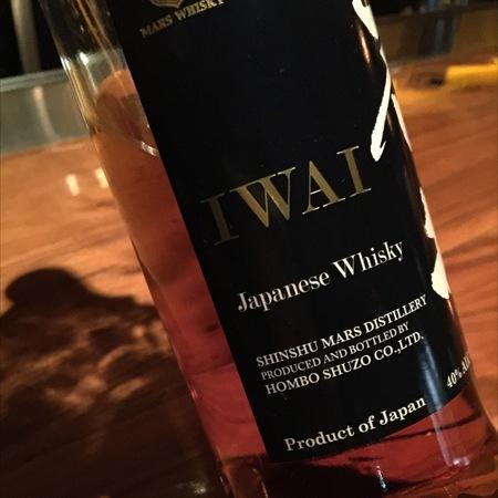 Shinshu Mars  Distillery Iwai Japanese Whisky NV