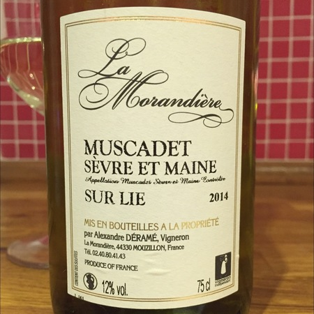 La Morandiere Sur Lie Muscadet Sèvre et Maine Melon de Bourgogne 2016