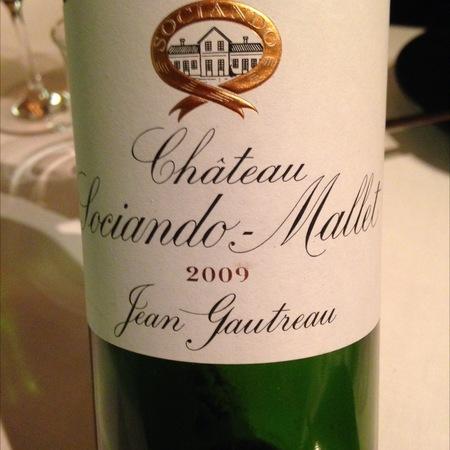 Château Sociando-Mallet Haut-Médoc Red Bordeaux Blend 2009