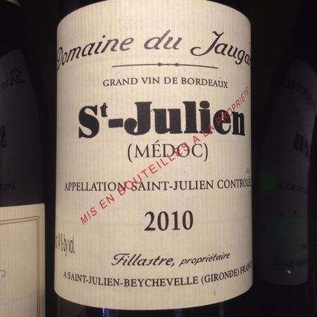 Domaine du Jaugaret St. Julien Red Bordeaux Blend 2012