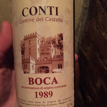 Cantine del Castello Conti Boca Nebbiolo Blend 2010