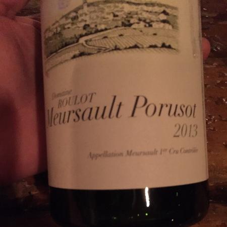 Domaine Roulot Le Porusot Meursault 1er Cru Chardonnay 2013
