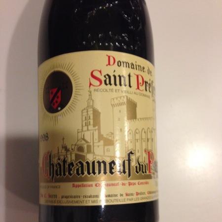 Domaine de Saint Préfert Chateauneuf-du-Pape Red Rhone Blend 2015