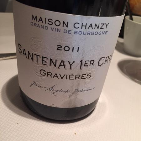 Maison Chanzy Gravières Santenay 1er Cru Pinot Noir 2014