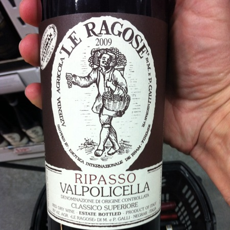 Le Ragose Valpolicella Ripasso Classico Superiore Corvina Blend NV