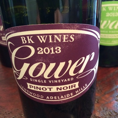 BK Wines Gower Single Vineyard Lenswood Pinot Noir 2013