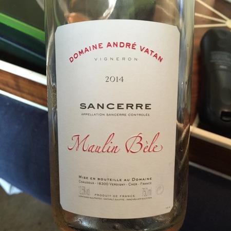 Domaine André Vatan Maulin Bèle Sancerre Rouge Pinot Noir 2015