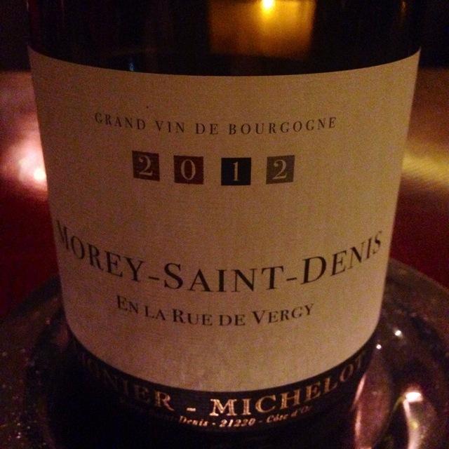 En la Rue de Vergy Morey-Saint-Denis Pinot Noir 2012