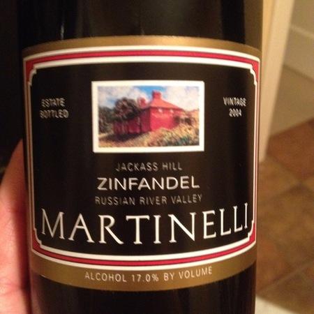 Martinelli Jackass Hill Zinfandel 2004