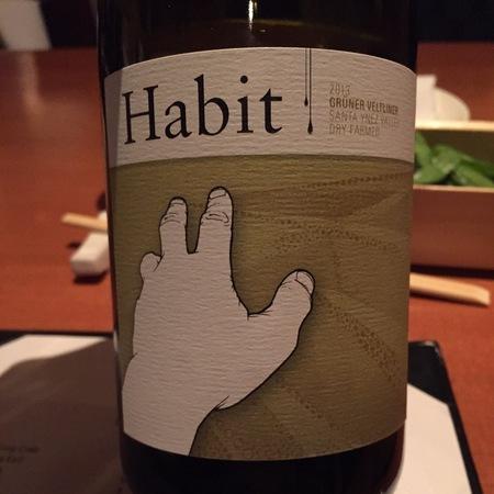 Habit Wine Company Dry Farmed Santa Ynez Valley Grüner Veltliner  NV
