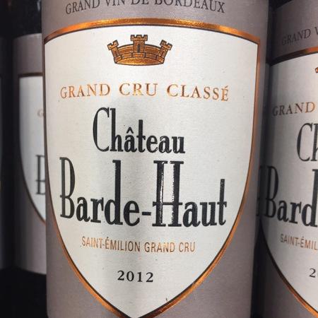 Château Barde-Haut Saint-Émilion Red Bordeaux Blend 2012