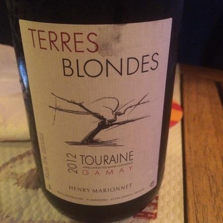 Henry Marionnet (Domaine de la Charmoise) Terres Blondes Touraine Gamay 2016