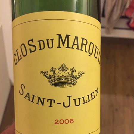 Château Léoville-Las Cases Clos du Marquis Saint-Julien Red Bordeaux Blend 2006