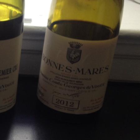 Domaine Comte Georges de Vogüé Bonnes Mares Grand Cru Pinot Noir 2012