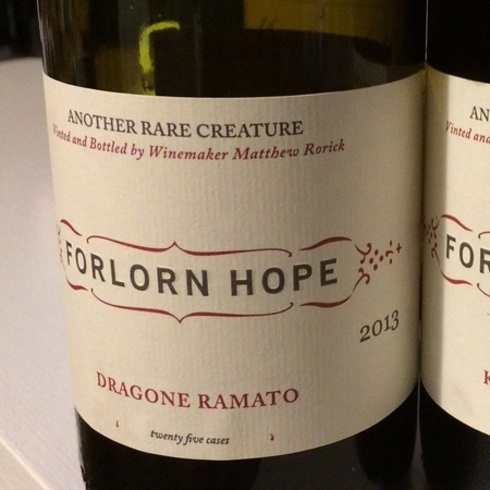 Forlorn Hope Dragone Ramato Rorick Vineyard Pinot Gris  2015