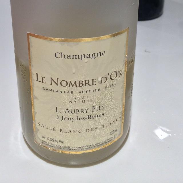Le Nombre d'Or Sablé Brut Blanc des Blancs Champagne Chardonnay 2009