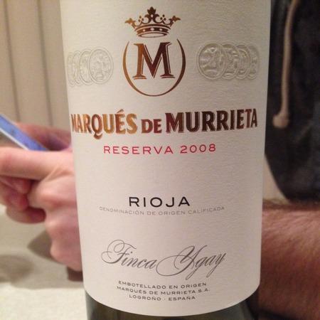 Marqués de Murrieta Finca Ygay Reserva Rioja Tempranillo Blend 2012