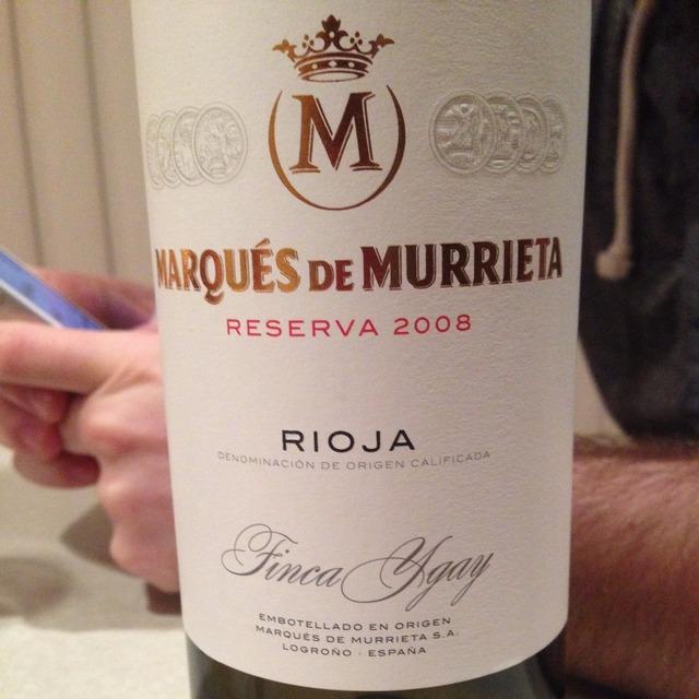 Finca Ygay Reserva Rioja Tempranillo Blend 2008