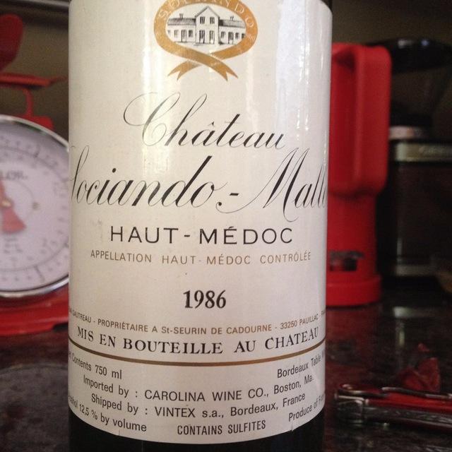 Haut-Médoc Red Bordeaux Blend 1986
