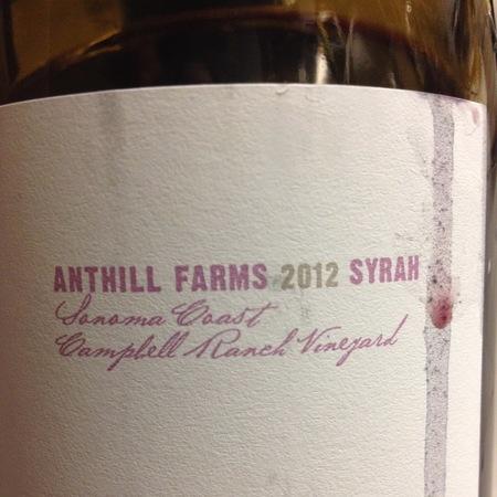 Anthill Farms Campbell Ranch Vineyard Syrah 2015
