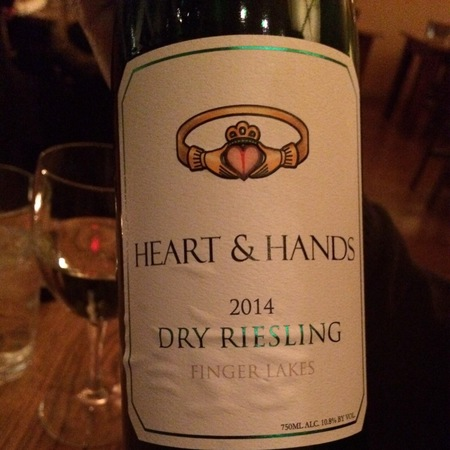 Heart & Hands Wine Company Finger Lakes Dry Riesling 2014
