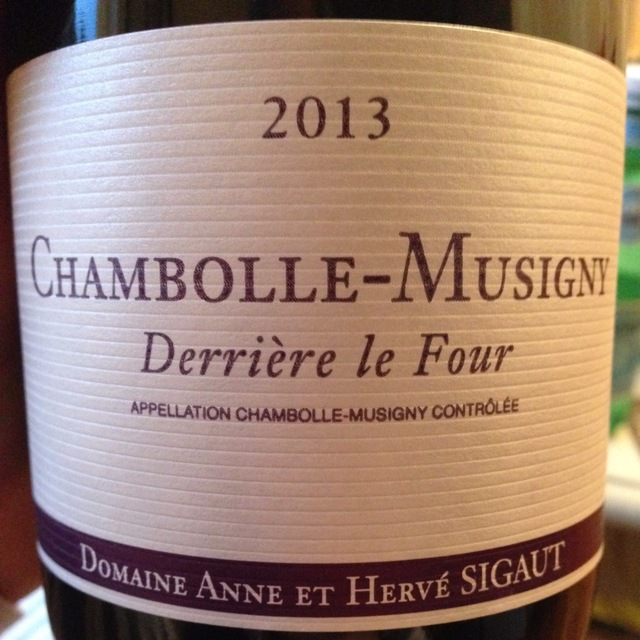 Derrière le Four Chambolle-Musigny Pinot Noir 2013