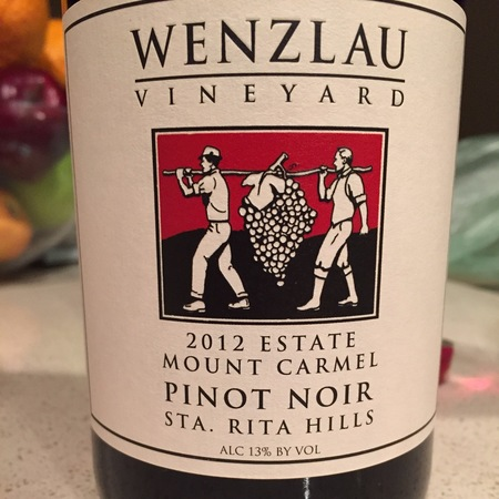 Wenzlau Vineyard Mount Carmel Pinot Noir 2012