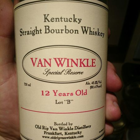 Old Rip Van Winkle Distillery Van Winkle Special Reserve 12 Years Old, Lot 'B' 45.2% Kentucky Straight Bourbon Whiskey NV