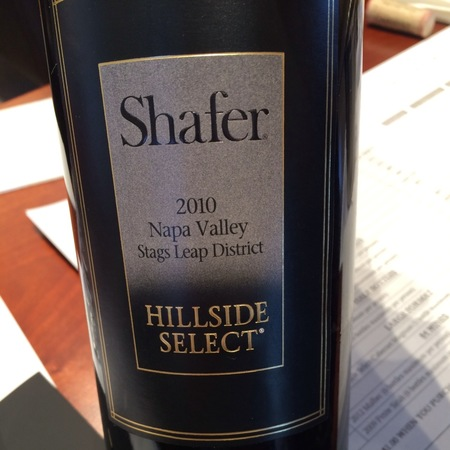 Shafer Hillside Select Stags Leap District Cabernet Sauvignon 2010