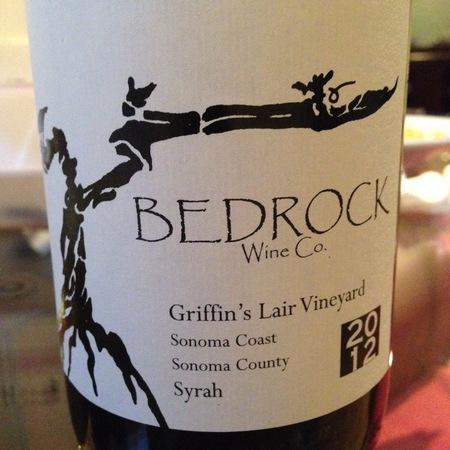 Bedrock Wine Co. Griffin's Lair Vineyard Syrah 2015
