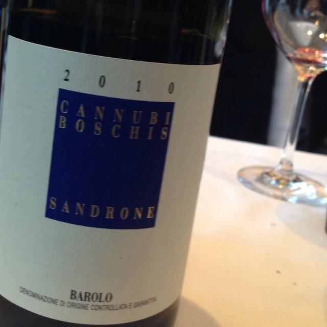 Cannubi Boschis Barolo Nebbiolo 2010