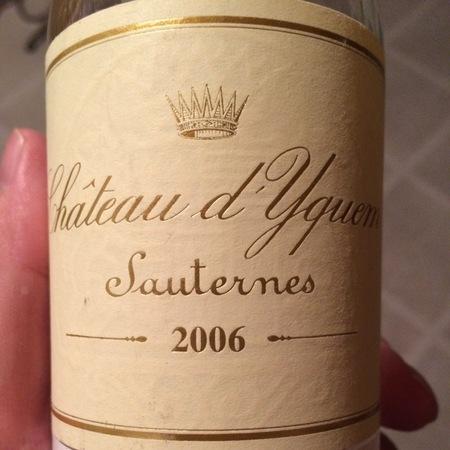 Château d'Yquem Sauternes Sémillon-Sauvignon Blanc Blend 2006 (375ml)