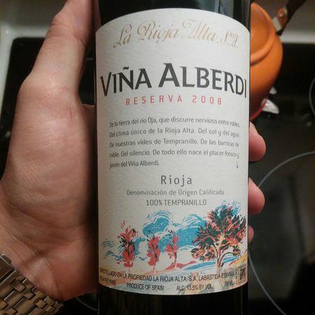 La Rioja Alta Viña Arana Reserva Rioja Tempranillo Blend 2008