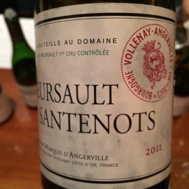 Santenots Meursault 1er Cru Chardonnay 2011