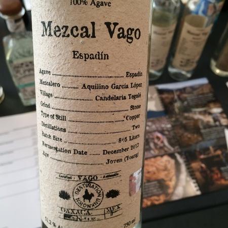 Mezcal Vago Espadín Mezcal NV